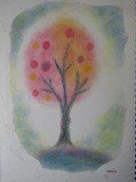 ゆるりとパステルでお絵描き (イメージの木を描く)
