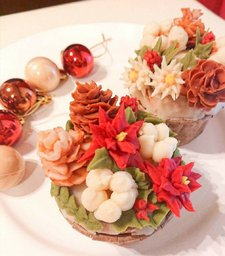 あんフラワーX'mas Cupcake workshop