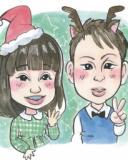 クリスマスの思い出に♪似顔絵を描いてもらおう!