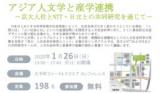 第3回全学シンポジウム「アジア人文学と産学連携」