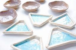 【初夏限定メニュー】陶芸手びねりメニュー「小さなお皿5個セット」作り!