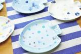 【夏限定メニュー】陶芸「お魚プレートの絵付け」