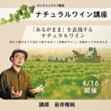 【2021/4/16(金)開催】チュラルワイン講座