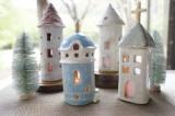 【おうちクリスマスを楽しもう!冬限定メニュー】陶器のおうちランプ