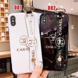 可愛い シャネル iphoneXS ケース 手持ちベルト付き iphonexr/8plus カバー キャラクター iphon...