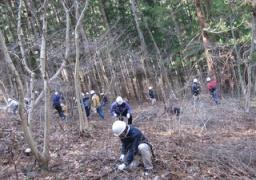 「神の泉 森林の楽校2013春」森づくり体験100%