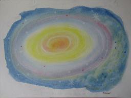 ゆるりと3色パステル画寺子屋で、宇宙を描く。